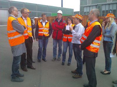 Auftakt zu EnergyProfit:  Erfahrungsaustausch und Effizienz-Check beim ersten Rundgang