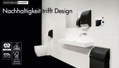 Waschraumkonzept Nachhaltigkeit trifft Design - die nachhaltigste Waschraumausstattung der Welt.