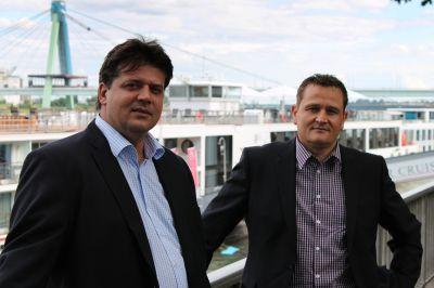 Die beiden Exomission-Geschäftsführer Uwe Israel (links) und Stefan Fischer. Foto: Christian Elvers