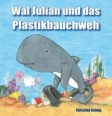 Wal Julian zeigt, was die Meeresverschmutzung durch Plastik für die Meeresbewohner bedeutet.