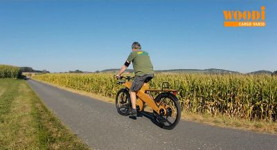 WOODI - Das Lastenrad zum selbst bauen - Probefahrt
