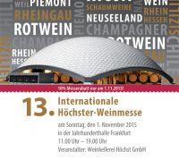 13. Internationale Höchster Weinmesse