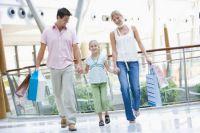 Shoppingtour am Sonntag mit der Familie.