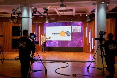 Digitale Veranstaltung im Streaming Studio Berlin