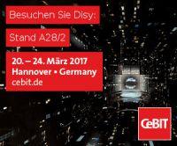 Besuchen Sie Disy auf der CeBIT vom 20.-24.03.2017 in Hannover in Halle 7