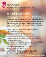 Menüangebot Havelabend in den Havelterrassen