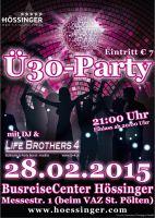 Einladung zur Ü30 Party bei Busreisen Hössinger