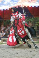 Patricia Gräfin Beissel von Gymnich bei den Ritterfestspielen auf Burg Satzvey. Quelle: Burg Satzvey