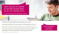 Hochschule Macromedia Berlin: Schnupperstudium vom 20.-22. OKtober 2015
