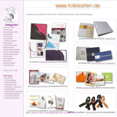 Einladungskarten bei tollekarten.de