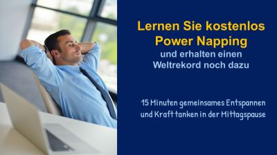 Weltrekordversuch Power Napping am 05.05.2021 mit Klaus Kampmann