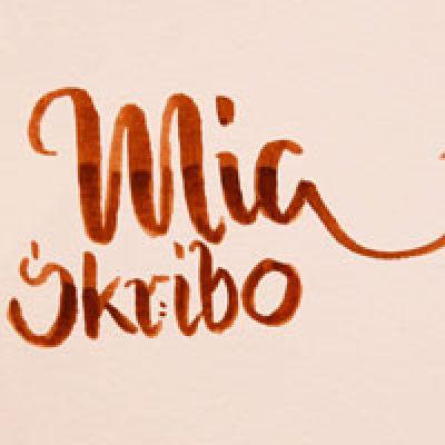 MiaSkribo-Schriftzug als Brushlettering