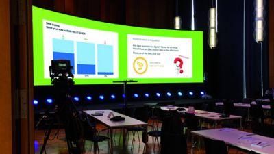 Live-Event-Tool SMS Voting für Mitarbeiterversammlungen und Führungskräfte-Meetings in Unternehmen