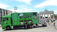 Der umgebaute Tiertransporter im Einsatz