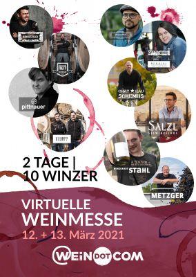 Das Veranstaltungsplakat zur virtuellen Weinmesse mit den zehn teilnehmenden Winzern