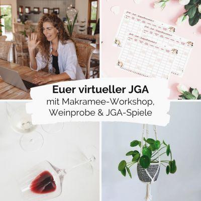 Der virtuelle Junggesellenabschied - Mit Makramee, Weinprobe und Spielen