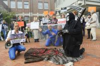 Arbeitskreis humaner Tierschutz demonstriert vor Verwaltungsgericht in Schleswig