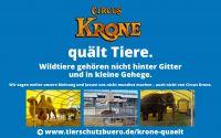 """""""Circus Krone quält Tiere!""""   Deutsches Tierschutzbüro e.V. muss sich für diese Aussage am 12.05.2016 vor Gericht in Berlin verant"""