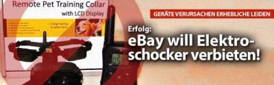Deutsches Tierschutzbüro: Ebay will Handel mit Elektroschockern für Hunde verbieten