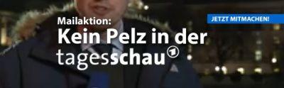 Deutsches Tierschutzbüro fordert: ARD Tagesschau ohne Pelz – Mailaktion gestartet