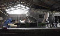 Die neue Felder Kombimaschine ist das Zentrum der Lehrwerkstatt im Fundi Center, Tansania.