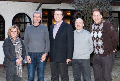 Der neue Vorstand (von links): Angelika Kauer, Jörg Wohlfeil, Thorsten Dampf, Kai Hornung, Chris Kettner