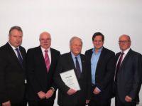 v.l.n.r.: Heinz Leymann, Manfred Wöllke, Hubert Roderburg, Thorsten Schick, Franz-Josef Müller