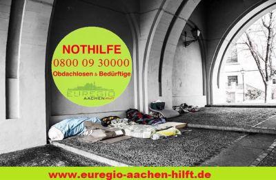 Aachener Obdachlosenhilfe bietet kostenlose 24 Stunden Notfallhotline für Obdachlose in Not
