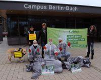Tierschützer demonstrierten gegen Bau eines neuen Tierversuchslabors in Berlin