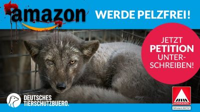 Über 65.000 Menschen fordern Amazon auf, pelzfrei zu werden!