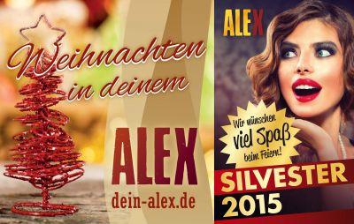 Bildquelle: Weihnachten (ALEX), Silvester (Shutterstock © Anna Subbotina)