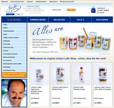 Neues Design - mehr Auswahl: der Online Shop von Johann Lafer.