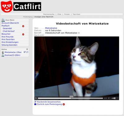 Videobotschaft bei catflirt