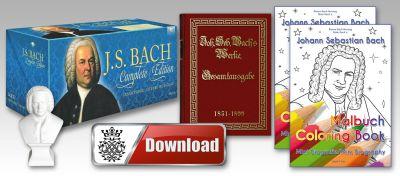 Zum Bach Musik Gesamtwerk bekommt der Bach-Fan beim Kauf zwei Bach-Geschenke dazu.