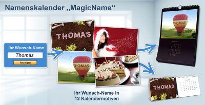 Magische Namensmotive zum selbst gestalten