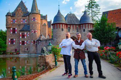 "Senf Dealer Oliver Siebenhaar, Eyad El-Khouly von Lord of the Grillz, Bäcker Michael ""Teddy"" Schmitz. Copyright: Thorsten Loock"