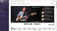Screenshot aus dem Kursbereich von E-Bass lernen mit Steffen Knauss
