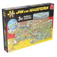 Runde Sache: '3-in-1 Fußball-Special' mit Bierdeckelspiel - Jan van Haasteren Puzzle von Jumbo