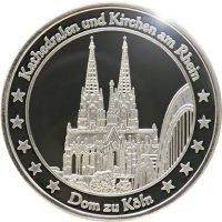 """Das beliebteste der 50 Rheintaler-Motive, das Motiv """"Dom zu Köln"""""""