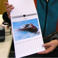 Selbstgemachter Kalender als Weihnachtsgeschenk