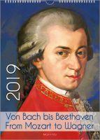 Musikergeschenke über Musikergeschenke: 99 coole Kalender zu den Themen Bach, Komponisten und Musik.