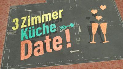 """Hessischer Rundfunk, Logo der TV-Sendung """"3 Zimmer, Küche, Date"""""""