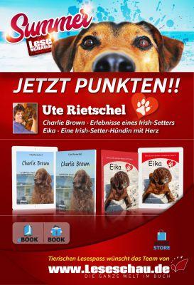 """Mit Eika und Charlie """"punkten!""""  Beim nächsten Buchkauf 8 Euro sparen! Einfach aufkleben und fertig."""