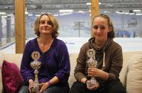 Deutsche Rummikub Meisterin 2014 Diana Berg und Tochter Leonie Berg, Deutsche Junior Rummikub Meisterin 2014