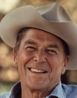Ronald Reagan spielte auch privat gern den Cowboy
