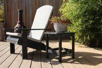 Adirondack Stuhl schwarz + kissen-fontelina