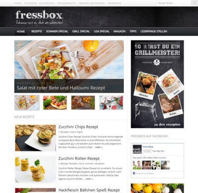 Aktuelle fressbox Website mit Grill-Special