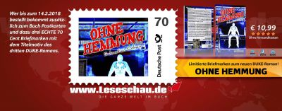 Eigene Briefmarke zum dritten Duke-Roman