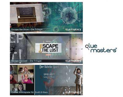 Cluemasters - Online Escape Games und Krimidinner für Familie und Freunde