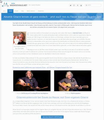 Screenshot vom Akustik- Gitarrenkurs von www.meineMusikschule.net